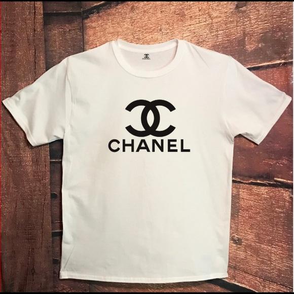 144ff5bdeb8 CHANEL Tops - CHANEL Logo T-Shirt